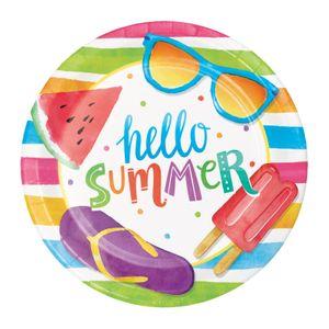 8 kleine Teller Eis Party Hallo Sommer – Bild 1