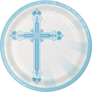 18 Papp Teller blaues Kreuz