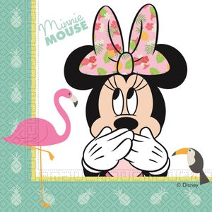 20 Servietten Minnie Maus Tropical