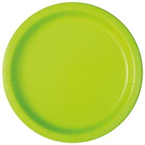 16 Papp Teller Neon Grün