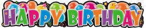 XXL Happy Birthday buntes Pappschild