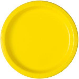 16 Papp Teller Neon Gelb
