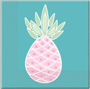 20 Servietten Ananas Pastell Farben Party