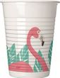 8 Plastik Becher Flamingo Party
