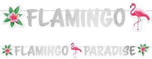 Flamingo Paradies Glitzer Girlande