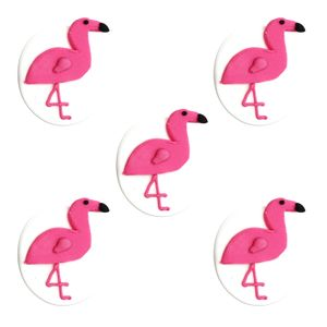 5 Zuckerfiguren pinke Flamingo