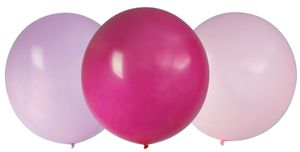 3 x XL Luftballons Lavendel Pink und Rosa - Ø 60 cm