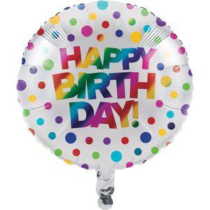 Geburtstags Folienballon schimmernder Regenbogen – Bild 1