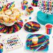 Geburtstags Folienballon schimmernder Regenbogen