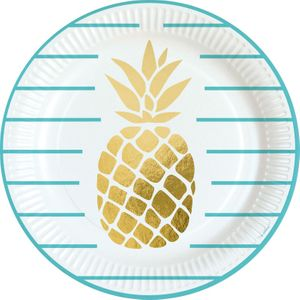 36 Teile goldene Ananas Party Deko Basis Set - für 8 Kinder – Bild 2