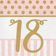 20 Servietten zum 18. Geburtstag Pink Chic