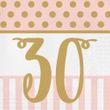 20 Servietten zum 30. Geburtstag Pink Chic