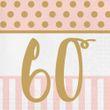 20 Servietten zum 60. Geburtstag Pink Chic