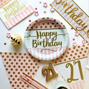 20 Servietten zum 80. Geburtstag Pink Chic