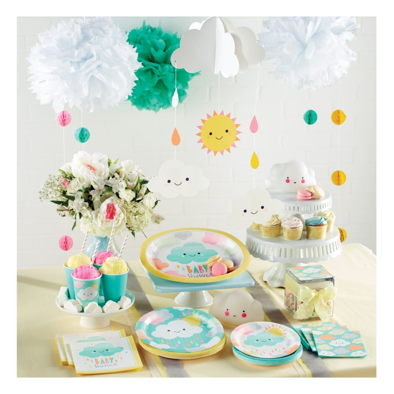 32 teile sunshine babyshower party deko set f r 8 personen for Baby shower party deko
