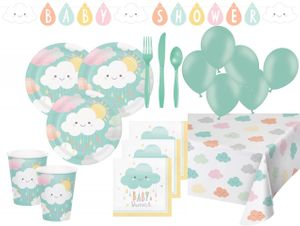 XL 68 Teile Sunshine Babyshower Party Deko Set für 8 Personen – Bild 1
