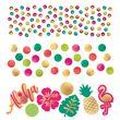 Aloha in Pink und Gold Konfetti Tischdeko Set