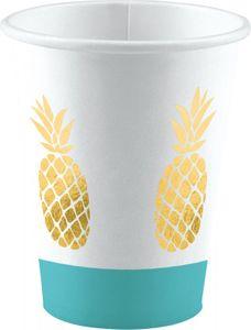 XL 68 Teile goldene Ananas Party Deko Sommerparty Set für 8 Personen – Bild 8