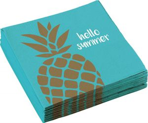 XL 68 Teile goldene Ananas Party Deko Sommerparty Set für 8 Personen – Bild 9