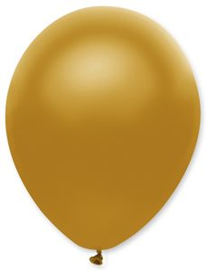 6 Luftballons Gold Metallic