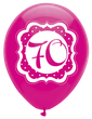 6 Luftballons Perfectly Pink zum 70. Geburtstag