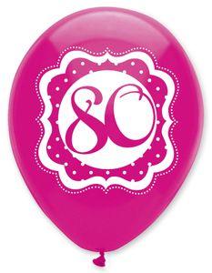 6 Luftballons Perfectly Pink zum 80. Geburtstag – Bild 2