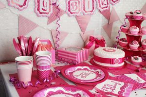 Geburtstags Banner Perfectly Pink Happy Birthday
