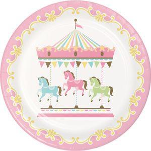 8 Teller klassische Babyparty Pferde Karussell