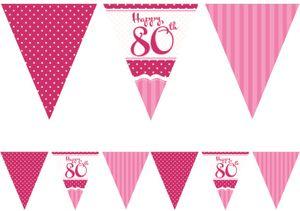 [Paket] XL 32 Teile zum 80. Geburtstag Perfectly Pink für 18 Personen - Servietten