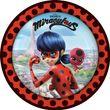 8 Papp Teller Miraculous Ladybug und Cat Noir
