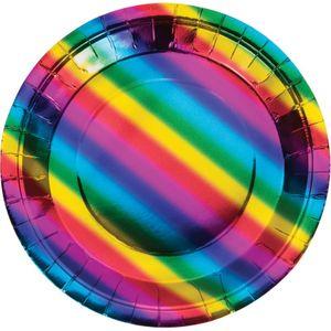 32 Teile Party Deko Set schimmernder Regenbogen - foliert für 8 Personen – Bild 2