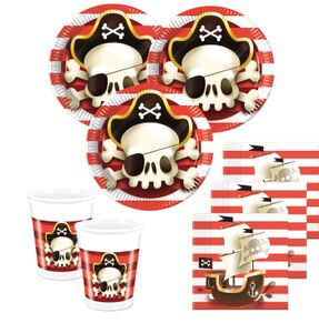 20 Servietten Piraten Jolly Roger Totenkopf – Bild 2