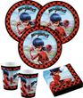 36 Teile Miraculous Ladybug und Cat Noir Party Deko Set 8 Kinder