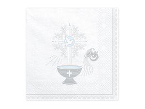 XXL 68 Teile Baby Taufe in Blau Partydekoration Set für bis zu 40 Personen - Kreuz Dekoration – Bild 2