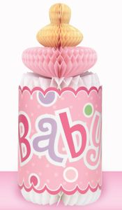Tischaufsteller Babyflasche Rosa