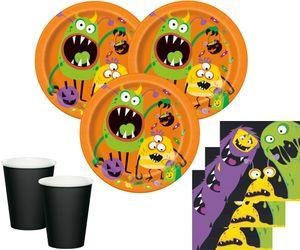 32 Teile Party Deko Set kleine Monster 8 Personen