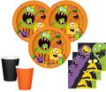 48 Teile Party Deko Set kleine Monster 16 Personen