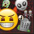 48 Teile Halloween Deko Set Emoji für 16 Personen