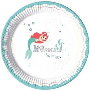 8 Glitzer Teller Arielle die Meerjungfrau Deluxe