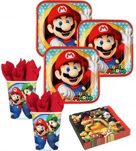 XL 43 Teile Super Mario Party Deko Basis Set für 8 Kinder – Bild 2