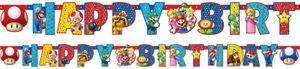 XL 43 Teile Super Mario Party Deko Basis Set für 8 Kinder – Bild 3