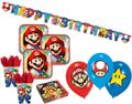XL 43 Teile Super Mario Party Deko Basis Set für 8 Kinder