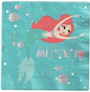 20 Servietten Arielle die Meerjungfrau Deluxe – Bild 1