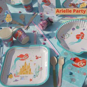 6 Glitzer Trinkhalme Arielle die Meerjungfrau Deluxe – Bild 2