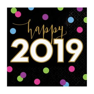 16 kleine Happy 2019 Servietten
