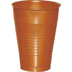 20 Plastik Becher Bernstein 350 ml