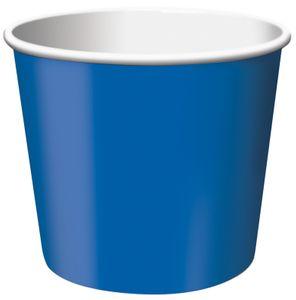6 kleine Dessert oder Eisbecher in Blau