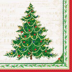 16 Weihnachts Servietten klassischer Weihnachtsbaum