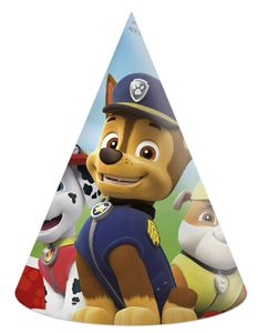 6 Party Hütchen Paw Patrol Ready for Action