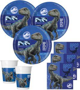 52 Teile Jurassic World Dinosaurier Party Deko Set für 16 Kinder